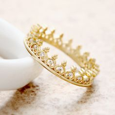 Tiny Heart Tiara Ring Gold #luxury #rich #expensive #jewelry #gold #rings #fashion #teen #style