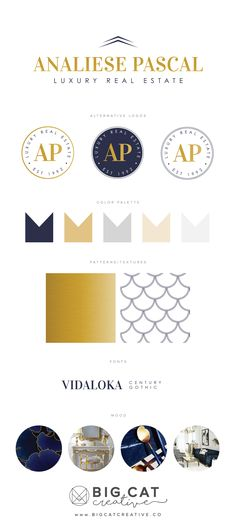 Branding Identity for Analiese Pascal Luxury Real Estate get your own at www.bigcatcreative.co | Big Cat Creative | Branding Style Board | Business Branding | Personal Branding | Small Business Branding | Branding Style Board | Brand Design Identity | Creative Brand Design | Small Business Design | Squarespace Website Design | Branding and Website Design for Small Business Owners | Real Estate Branding | Brand Design for Real Estate Company | Luxury Real Estate Branding | Real...