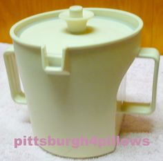 Tupperware - Sugar Bowl - 1415 -  Tan - Double Handle - EUC by pittsburgh4pillows on Etsy
