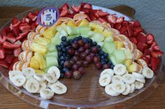 Creative Fruit Platter--- Rainbow Princess Party