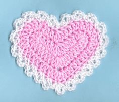 (via Free Crochet Lacy Heart Coaster Pattern)