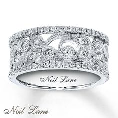 3/4 ct tw Diamond Ring Round-Cut 14K White Gold
