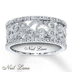3/4 ct tw Diamond Ring Round-Cut 14K White Gold.......Santa Baby, yes please!!!