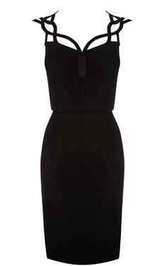 karen millen graphic cutwork dress