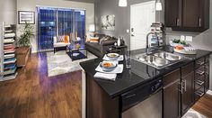 Amazing interior finishes including wood cabinetry, granite countertops, vinyl plank wood flooring and stainless steel appliances