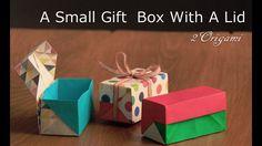 ふたのある小さな箱。ギフトボックスの作り方♪(折り紙2枚)How to make a small gift box with a lid.【Origami Paper Box】 - YouTube