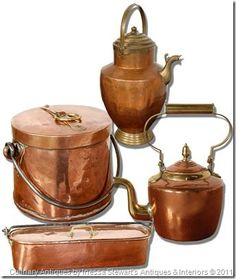 Antique Copper, Culinary antiques www.inessa.com