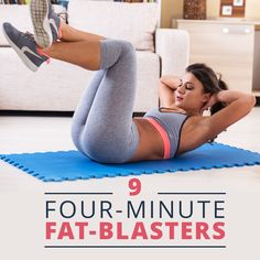 Try one of these 9 Four-Minute Fat Blasters! They're good!  #quickworkouts #4minuteworkouts #fatloss