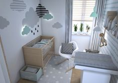 modern baby room in mint and gray attractive wall decoration carpet dotted … modernes babyzimmer in mint und grau attraktive wanddekoration teppich gepunktet wickelkommode - Colorful Baby Rooms Baby Bedroom, Baby Boy Rooms, Baby Room Decor, Baby Boy Nurseries, Nursery Room, Kids Bedroom, Bedroom Decor, Kid Rooms, Nursery Themes