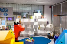 Situated in the Gaîté lyrique in Paris this public library has space for kids to discover literature in the traditional way and a space to access literature through electronic mediums.