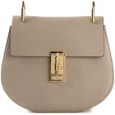 Chloé 'Drew' medium shoulder bag (165.450 RUB) ❤ liked on Polyvore featuring bags, handbags, shoulder bags, grey, leather handbags, leather shoulder handbags, chloe shoulder bag, gray shoulder bag and grey purse