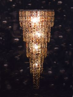 Stuart Haygarth's Found Object Chandeliers-all from found eyeglasses-Fantastic