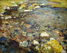 John Singer Sargent's Val d'Aosta (A Stream over Rocks or Stream in Val d'Aosta)