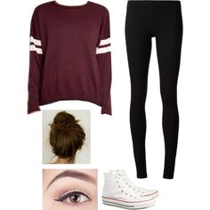 Comfy Day by melenakbubbles on Polyvore featuring polyvore, fashion, style, Brandy Melville, The Row and Converse