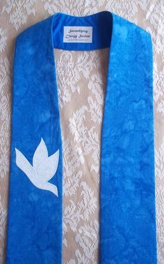 Items similar to Blue Advent Clergy Stole with Two White Doves and Optional Neck Cross -- Will ship November 20 - December 2015 on Etsy Church Banners, White Doves, Learn To Sew, Make And Sell, Style Me, How To Look Better, Sewing Patterns, Trending Outfits, Advent