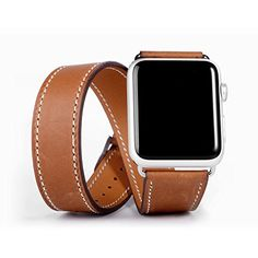 I love this watch band! Apple Watch Band,eLander™ Luxury Genuine Leather watch Band strap Bracelet Replacement Wrist Band With Adapter Clasp for iWatch Apple Watch & Sport & Edition- Double tour Brown 42mm eLander http://www.amazon.com/dp/B0173F7U48/ref=cm_sw_r_pi_dp_IpItwb0R13V4V