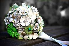 Brooch Bouquet with green!