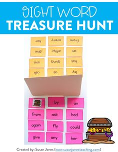 This fun sight word game has kindergarten, first, and second grade students practicing reading and identifying their sight words! In this activity, students pair up and try to be the first to find the other's buried treasure. Head over to the post to see how to play!