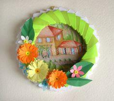 Рамки с цветами из бумаги своими руками