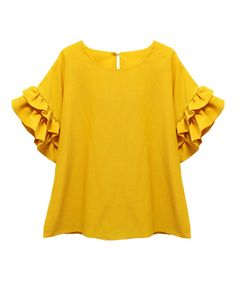 Cute Girl Outfits, Hippie Outfits, Outfits For Teens, Yellow Clothes, Western Tops, Vetement Fashion, Whimsical Fashion, Mom Dress, Mode Hijab