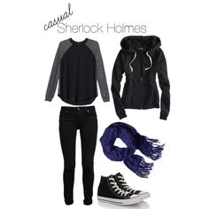 """Sherlock Holmes (casual)"" by fictionallyfashionable on Polyvore"
