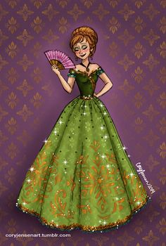 Cory's Art : Love the sparkles! - I wish he would do Belle and Merida too!!