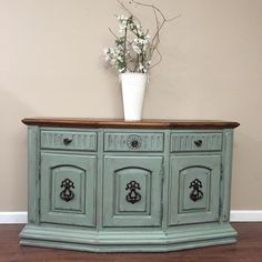 A personal favorite from my Etsy shop https://www.etsy.com/listing/271360021/sideboard-buffet-credenza