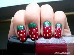 Aardbei nagels