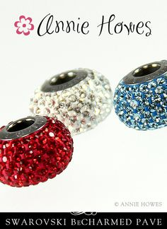 Swarovski BeCharmed Pave Crystal Beads with Stainless Steel core. #swarovski #Pavé