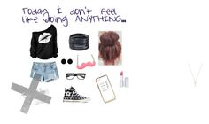"""""""Today I don't feel like doing anything..."""" by brianna-bae on Polyvore featuring Converse, River Island, AeraVida, Gucci, HoneyBee Gardens and ABS by Allen Schwartz"""