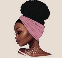 Ideas For Black Art Afro Inspiration Art Black Love, Black Girl Art, Black Is Beautiful, Black Art Painting, Black Artwork, Hair Painting, Natural Hair Art, Natural Hair Styles, Art Afro Au Naturel