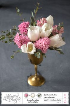 tulip and hyacinth - beautiful budget florals