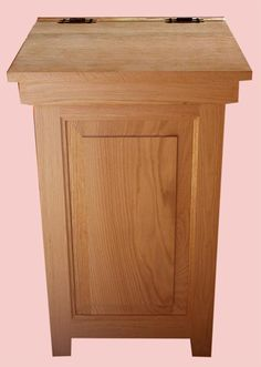Wooden Amish trash cans/bins & Amish wooden laundry bins- handmade Ohio  Amish.