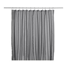 A soothing neutral toned shower curtain that's not too busy. SALTGRUND Shower curtain - IKEA
