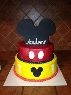Mickey Mouse cake for Konnor's B-day
