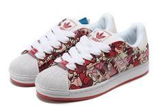 Womans Adidas Superstar 1 K IS ?Adicolor 561973 Floral Multi-Color Red Trainers