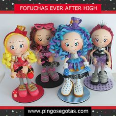 Fofuchas Ever After High! Super lançamento no Pingos e Gotas!