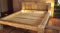 wooden furniture old wood bed old beams Bed Frame Plans, Diy Bed Frame, Diy Furniture Projects, Furniture Design, Wooden Bed With Storage, Rustic Outdoor Spaces, Timber Beds, Cama King, Diy Pallet Bed