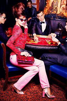 Those shades, that hair! (Rianne Ten Haken by Ellen von Unwerth for Madame Figaro December 2014)