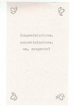 Congradulations Funny Congratulations Card | Funny English Graduation Card