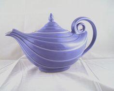 Vintage cornflower-blue Aladdin teapot by Hall on Etsy, $23.50