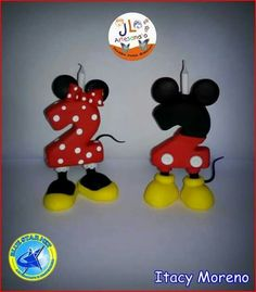 Clay Ideas, Cake Toppers, Fondant, Polymer Clay, Minnie Mouse, Pasta, Candles, Fiesta Mickey, Crack Crackers