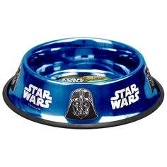 Star Wars Darth Vader bowl from Platinum Pets that is designed with a classic powder coated sapphire finish.  Platinum Pets Star Wars Darth Vader Non-Tip Bowl $19.99  overstock.com