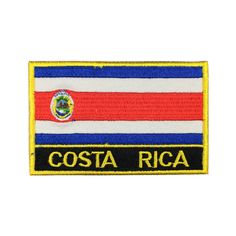 Costa Rica Square Shape Flag Iron on patches Orzen embroidery patch custom Stickers Bag Patches, Travel Patches, Sew On Patches, Iron On Patches, Gabon Flag, Suriname Flag, Costa Rica Flag, Nepal Flag