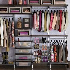 Wall Closet for people on a budget..they make it look so easy
