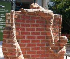 North Carolina artist Brad Spencer creates extraordinary sculptures out of a most ordinary medium—bricks. His work ranges from free-standing sculptures to relief sculptures.