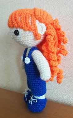 Crochet Doll Julie doll amigurumi pattern - free - Here is a new crochet pattern to create your very own sweet amigurumi doll, Julie. She has curly red hair and Crochet Dolls Free Patterns, Crochet Doll Pattern, Amigurumi Patterns, Amigurumi Doll, Crochet Teddy, Cute Crochet, Crochet Toys, Crochet Gifts, Crochet Hook Set