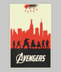 The Avengers variant poster by WilliamHenryDesign on Etsy