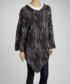 Take a look at this Gray Mademoiselle Poncho by Elle Tian on #zulily today! $30 !!