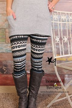 Fleece lined print leggings!! Adorable!